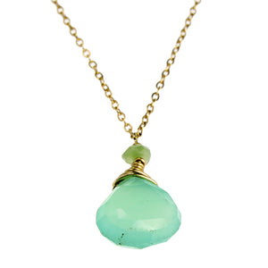 Chrysoprase One Drop Necklace