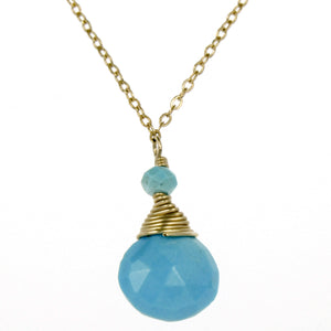 Turquoise One Drop Necklace