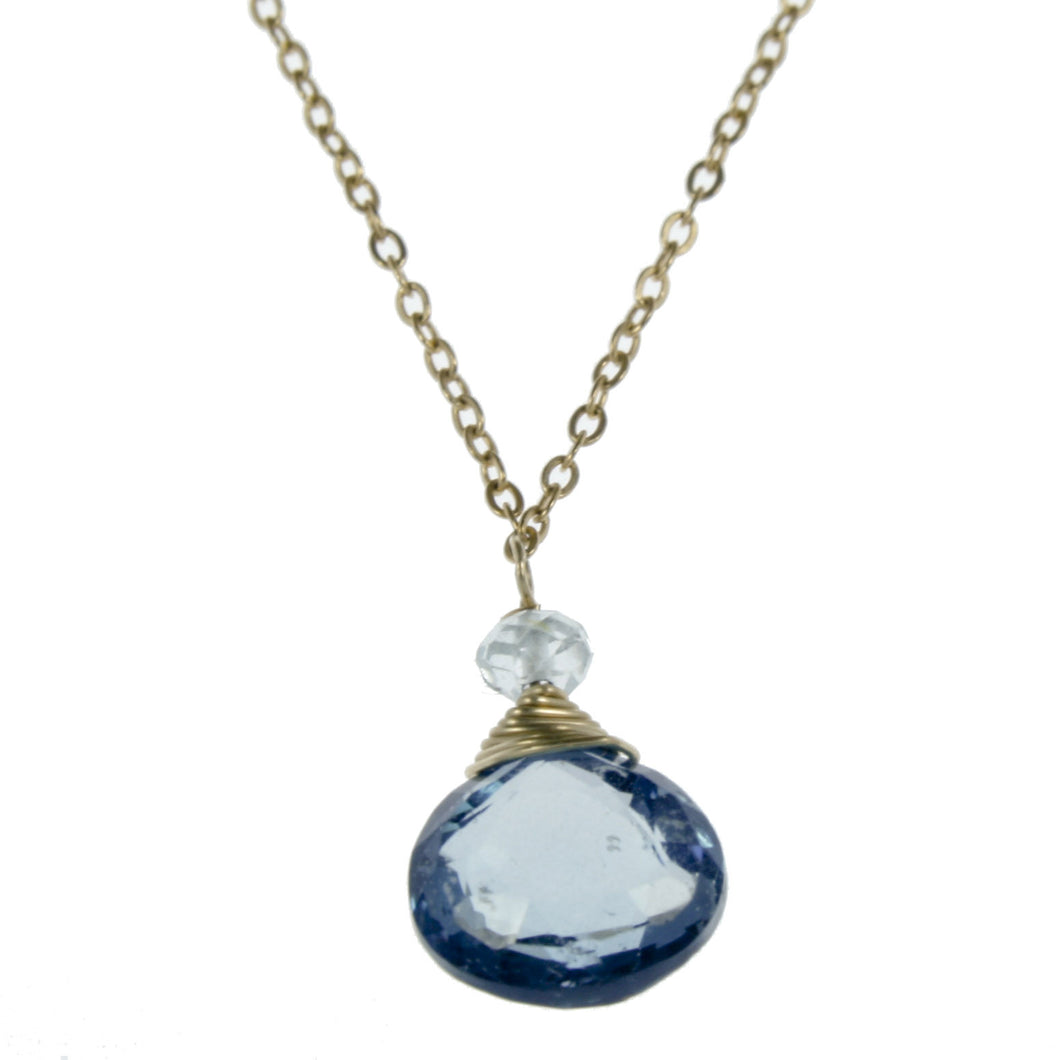 London Blue Topaz One Drop Necklace