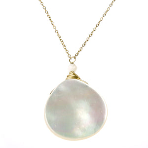 Mother of Pearl One Drop Necklace