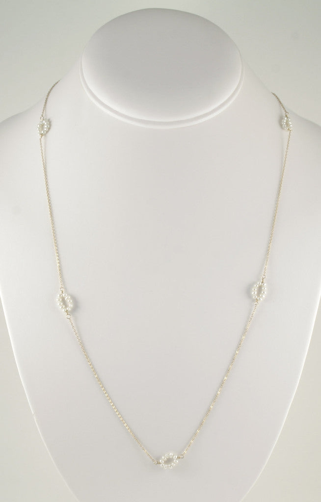 Pearl Ovals Long Necklace