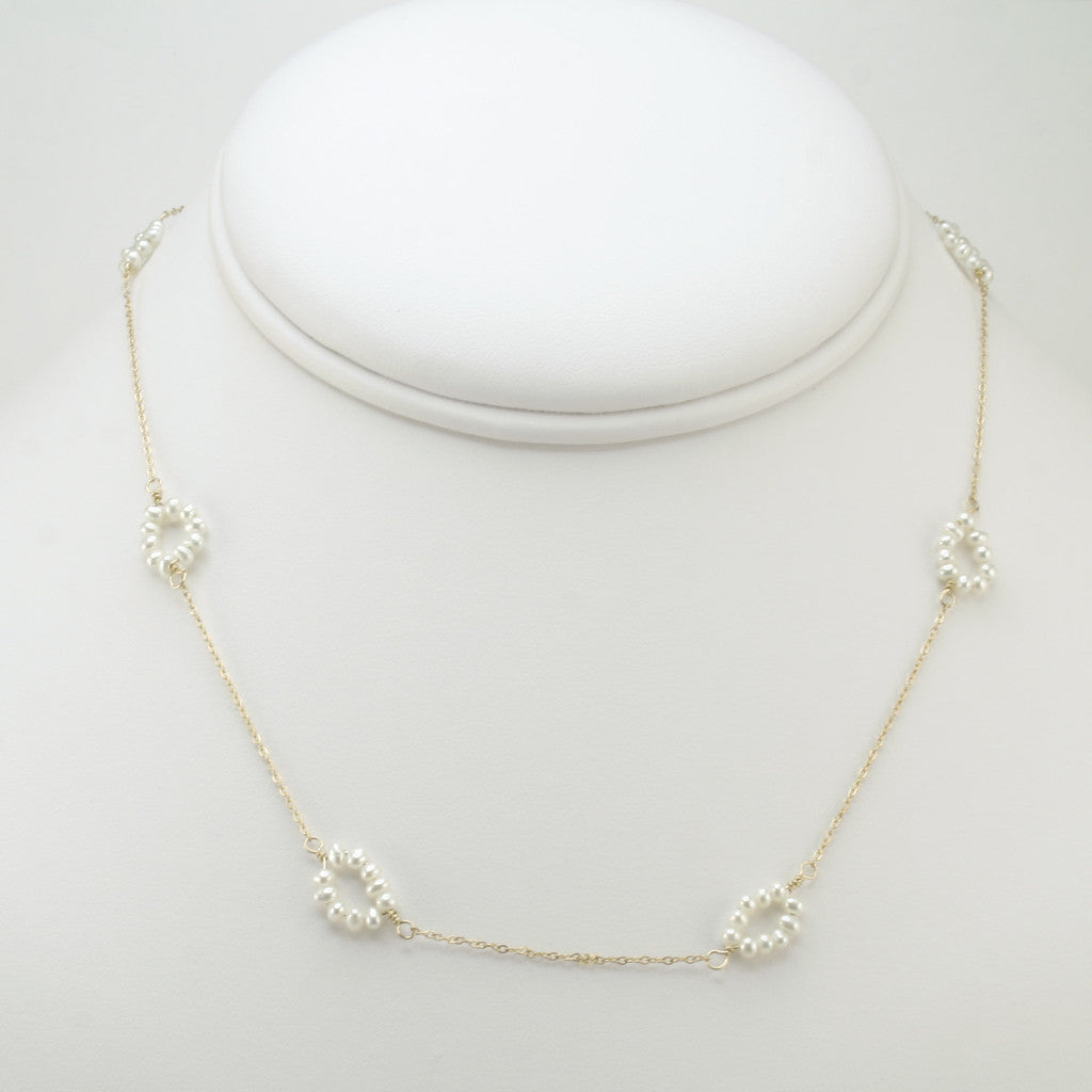 Short Pearl Ovals Necklace