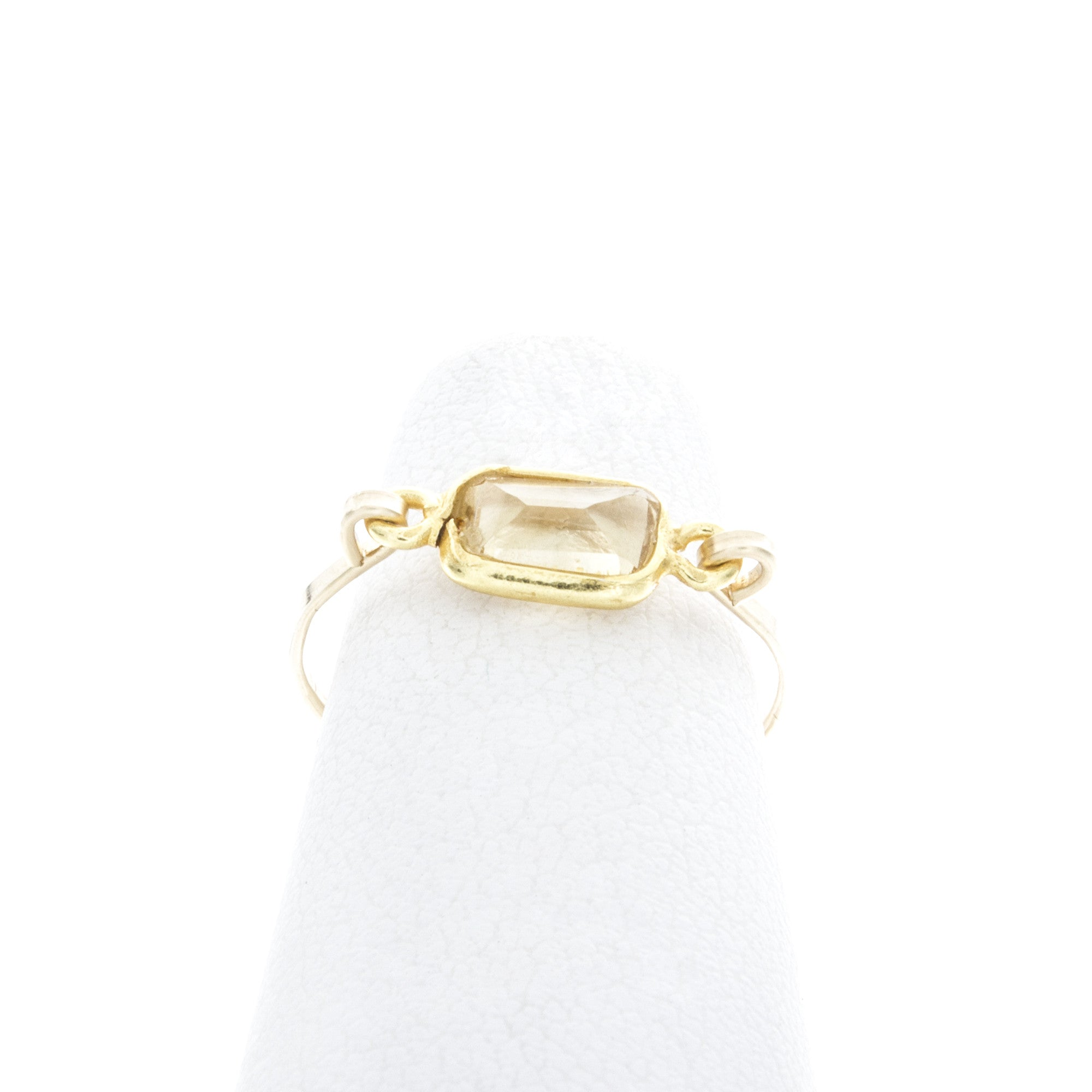 Small Rectangle Gemstone Mid Ring
