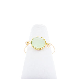 Round prong gemstone rings