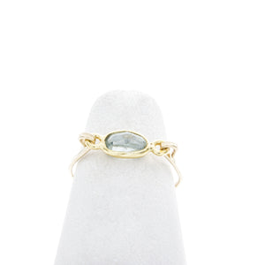 Small Oval Gemstone Mid Ring