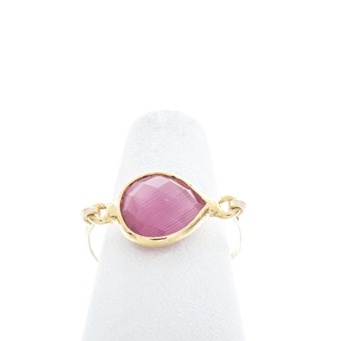 Heart Shaped Bezel Gemstone Ring
