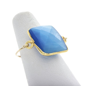 Large Square Gemstone Rings