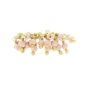 Rolled Clustered Beaded Chain Midi-Ring
