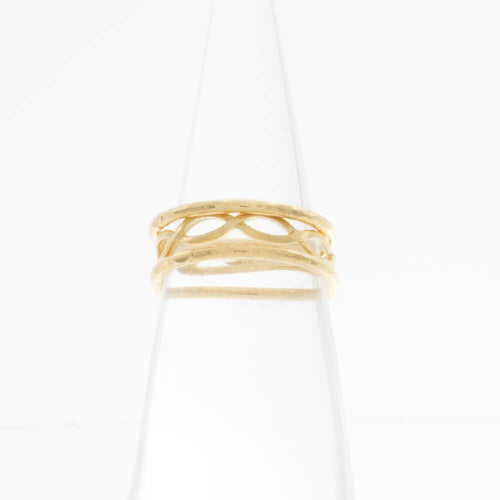 Oval Chain Knuckle Ring set of 3