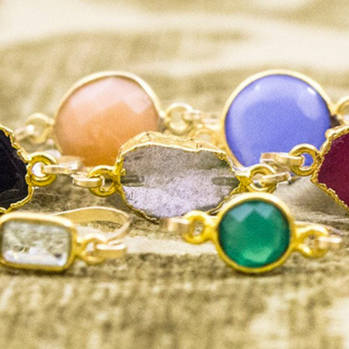 Small Natural Cut Gemstone Rings