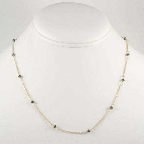 Smoky Topaz Bead Chain Necklace
