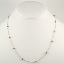 Emerald Bead Chain Necklace
