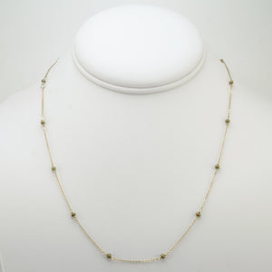 Olive Green Pearls Bead Chain Necklace