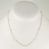 Pink Pearls Bead Chain Necklace