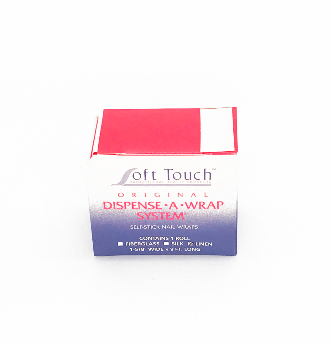 Wide Linen Dispense-A-Wrap Wide Self Stick Nail Wrap