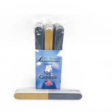 "Load image into Gallery viewer, 7"" x 3/4"" Disinfectable 4-Way Black/Gold Files. Click to view all Pack options"