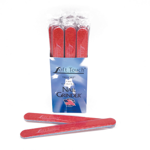 "7"" x 3/4"" Disinfectable St Tropez Mylar Files-Red, X-Coarse 080. Click to view all pack options"