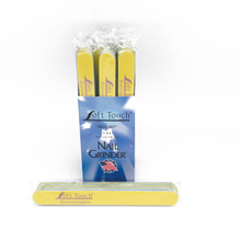 "Load image into Gallery viewer, 7"" x 3/4"" Disinfectable St Tropez Mylar Files-Yellow, Fine 240. Click to view all pack options"