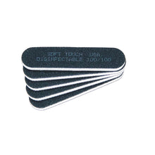"Load image into Gallery viewer, 3 1/4""x 3/4"" Disinfectable File-Mini Black Coarse 100. Click to view all pack options"