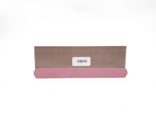 "Load image into Gallery viewer, 7"" x 3/4"" Wood Emery Boards-Lt/Dk Pink, Fine 280/X-Fine 320. Click to view all pack options"