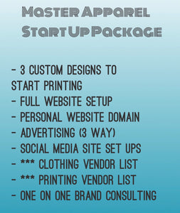 Master Apparel Start Up Package