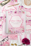 Pink Floral Bible & Prayer Combo CUSTOMIZABLE Journal COVERS ONLY