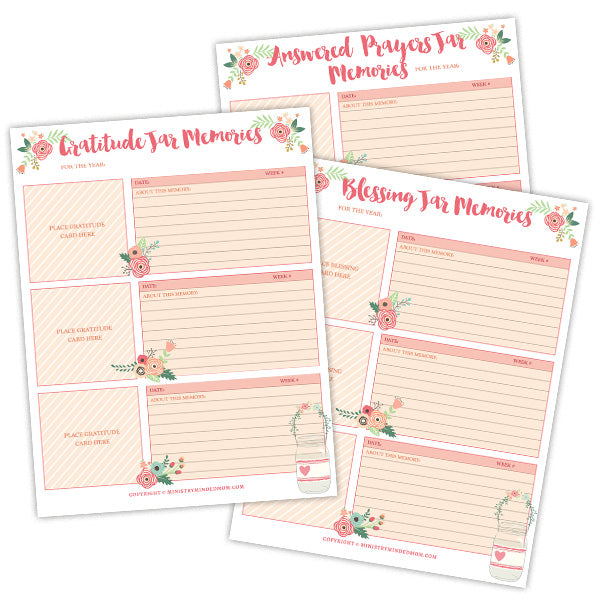 photograph about Blessings Jar Printable called Depend Your Blessings Graude Jar Printable Package 18 Internet pages