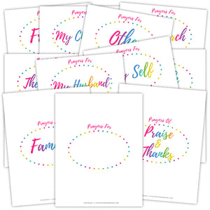 photo about Free Printable Prayer Journal Pdf named Prayer Magazine Binder within just Rainbow Dots 118+ webpages