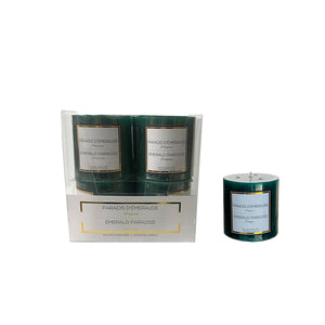 "13263 -  3""x3"" Candle - Green Emerald"