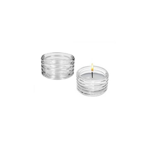 13940 -  Tealight Glass Candle Holder - Clear - 6cmx3.5cm