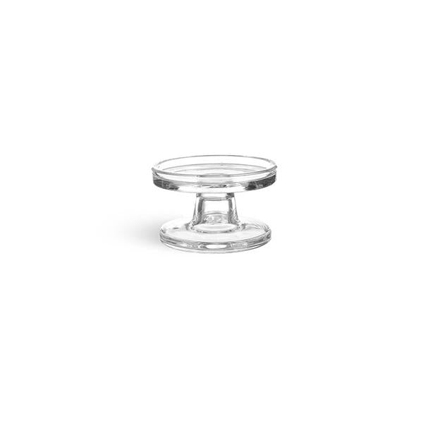 13944 -   Glass Candle Holder  - Clear - 10cmx6cm