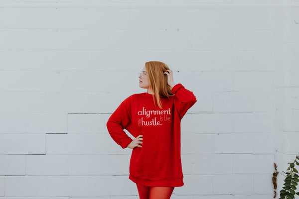 Alignment Is The New Hustle - Unisex Heavy Blend™ Crewneck Sweatshirt - Bee Mindful