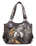 Western Large Coffee Camouflage Gun Handbag