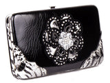 Leopard Black Flower Clutch Opera Wallet M
