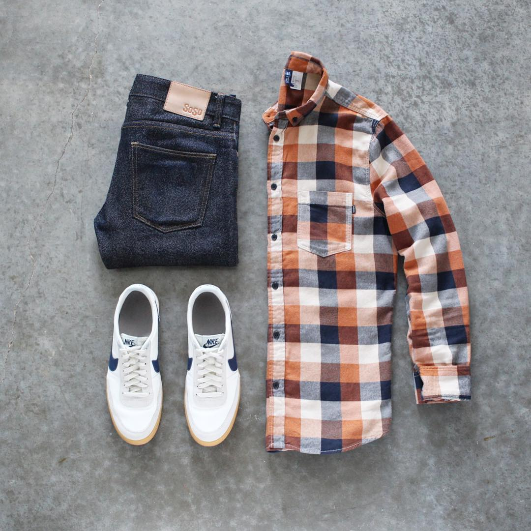 Check Shirt Outfits For Men.