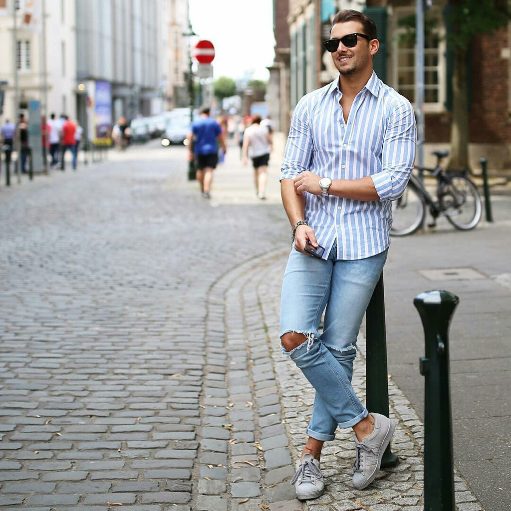 How To Wear Casual Shirt On The Street