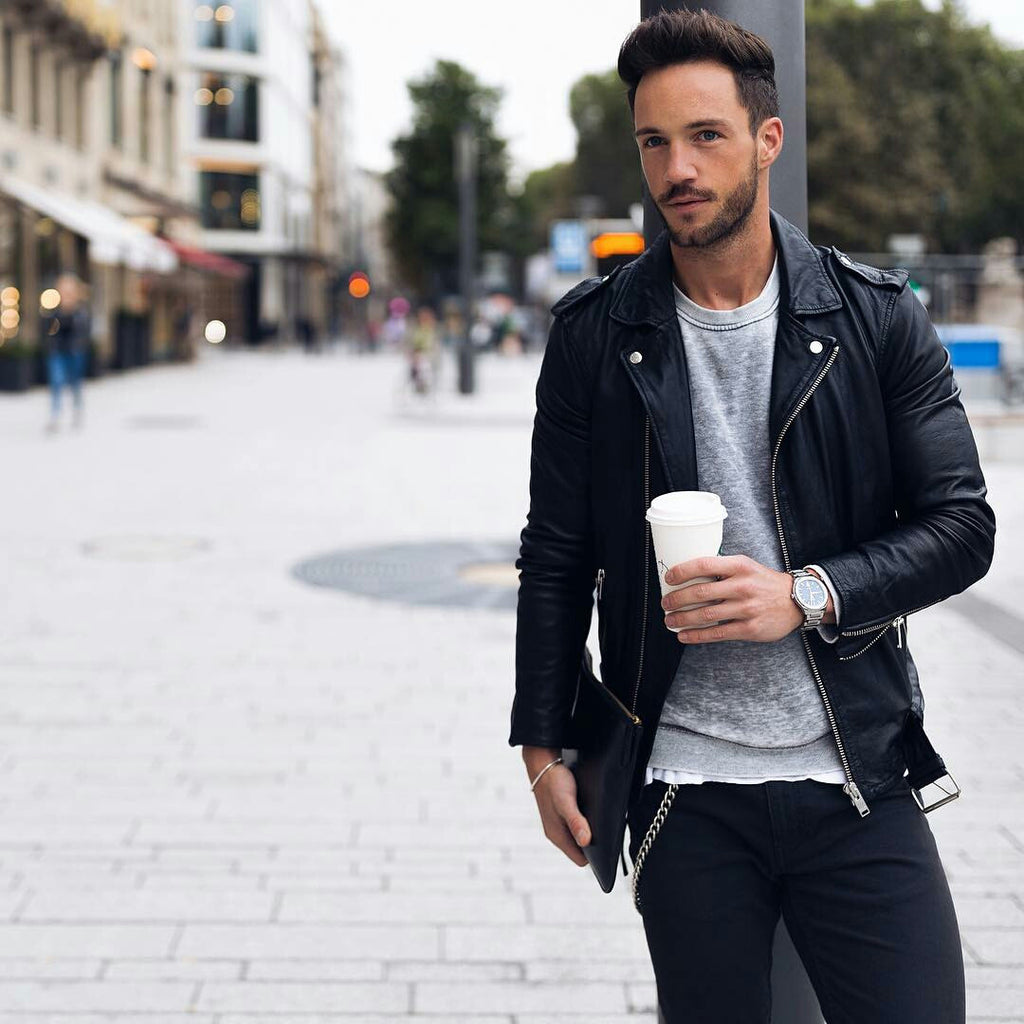 15 Coolest Ways To Wear Leather Jacket This #Fall