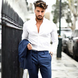 Navy & White Outfit Inspiration For Men