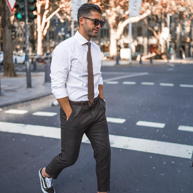Kosta Williams Found A New Way To Wear Trousers & Sneakers On The Street