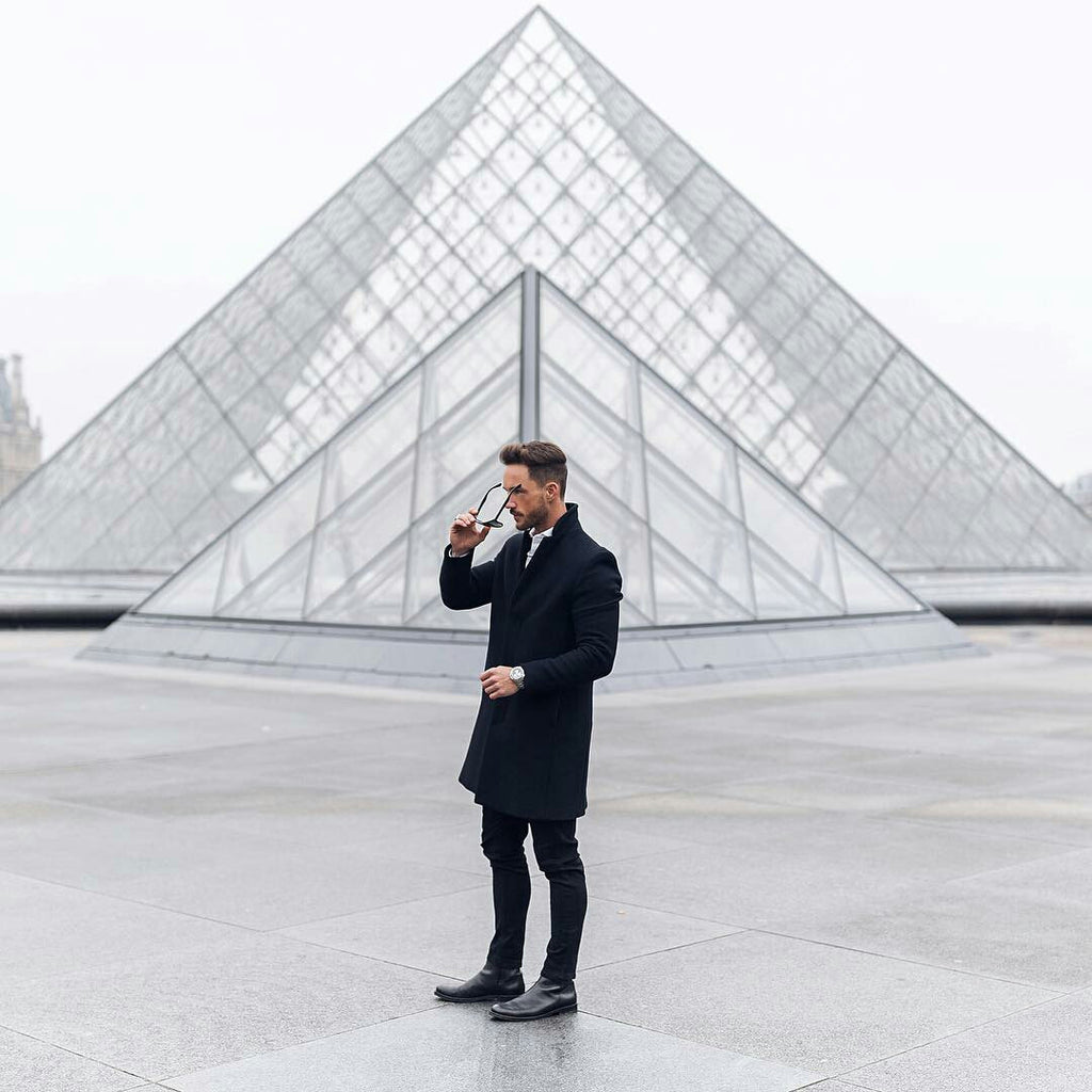 This Is How You Can Wear Your Black Overcoat To Look Insanely Sharp