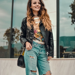 Beautiful Ways to Wear A Leather Jacket Fashion for Women