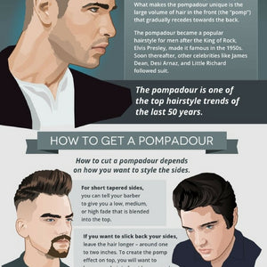 5 Greatest Men's Hairstyles Of All Time (Infographic)