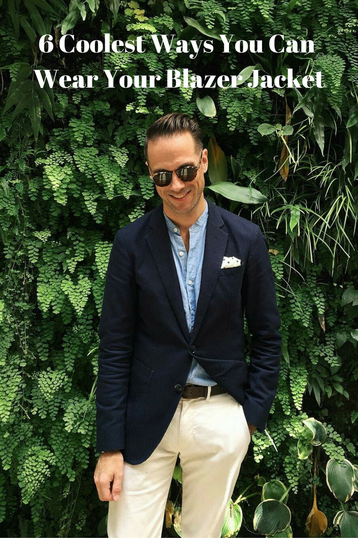 how to wear blazer for men