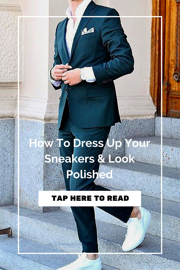 how to wear blazer with sneakers for men
