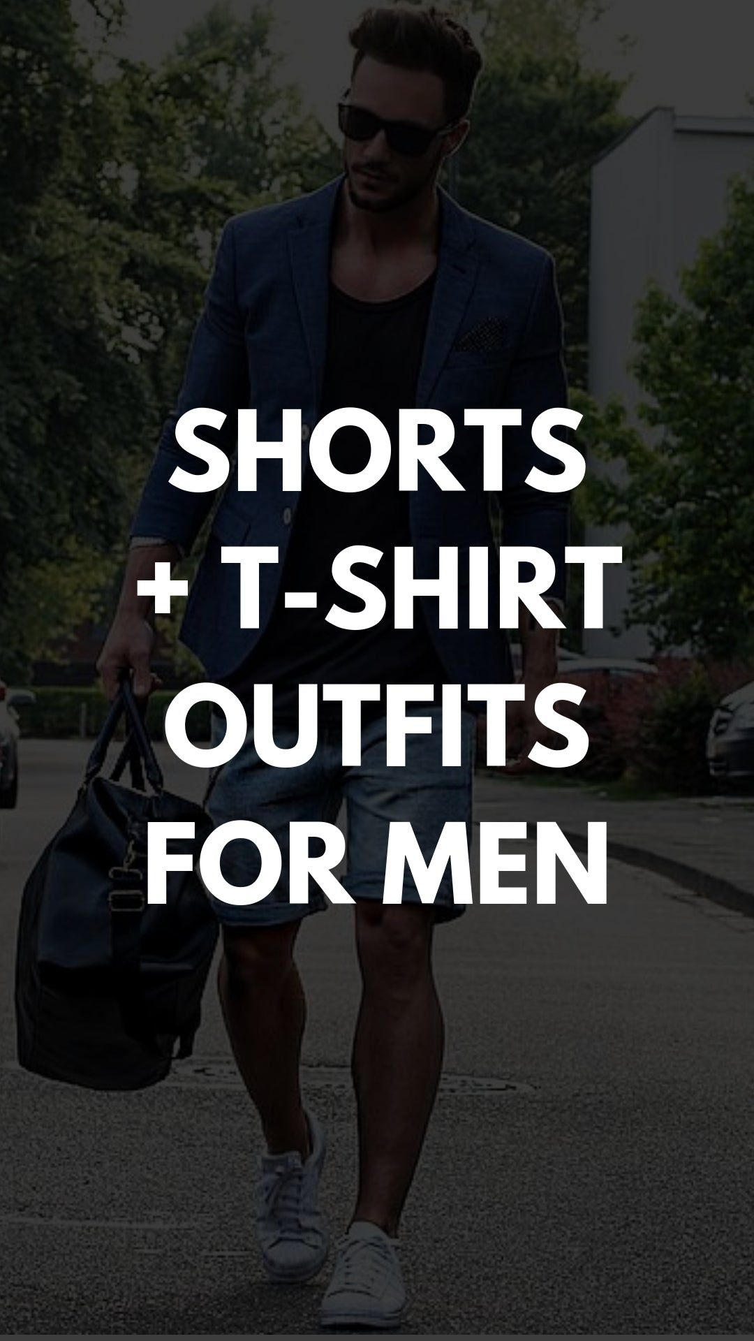 10 Ways To Wear Your T-shirt With Shorts #mensfashion #streetstyle