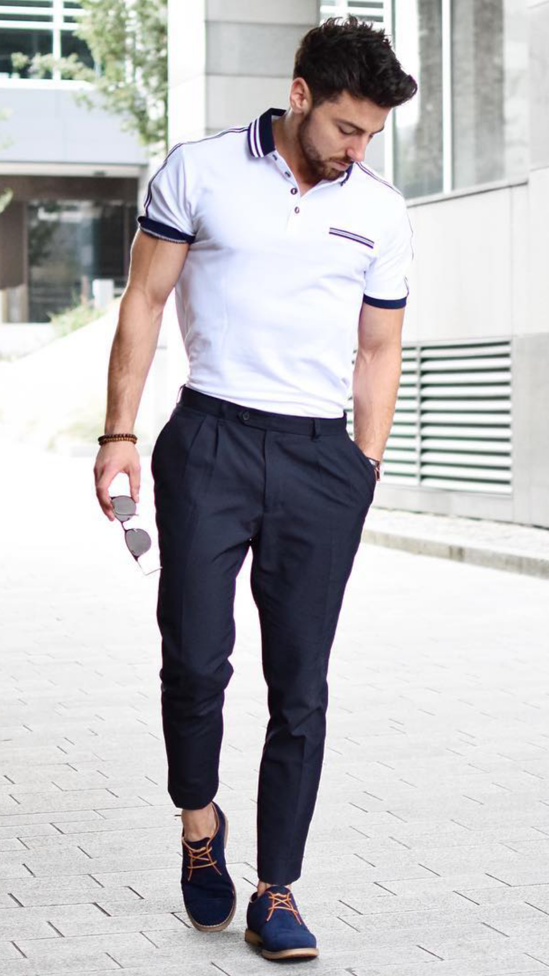 White Polo Shirt Outfit Ideas For Men Lifestyle By Ps
