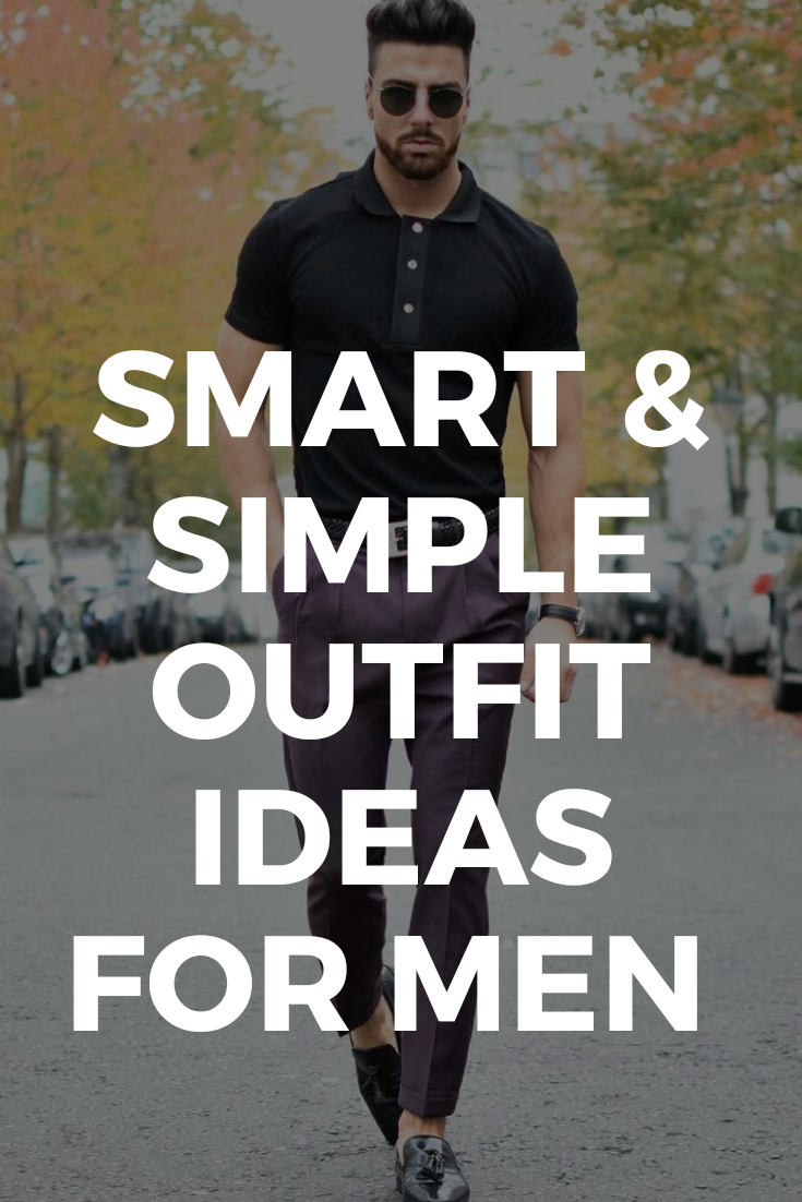 Simple outfit ideas for men.  #simple #outfitideas #mensfashion #streetstyle