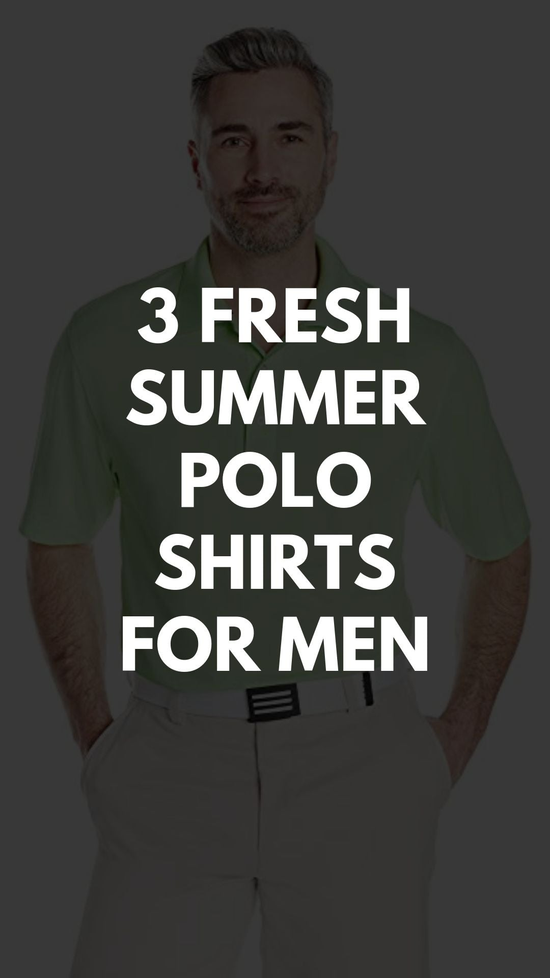 3 Summer Polo Shirts For Men