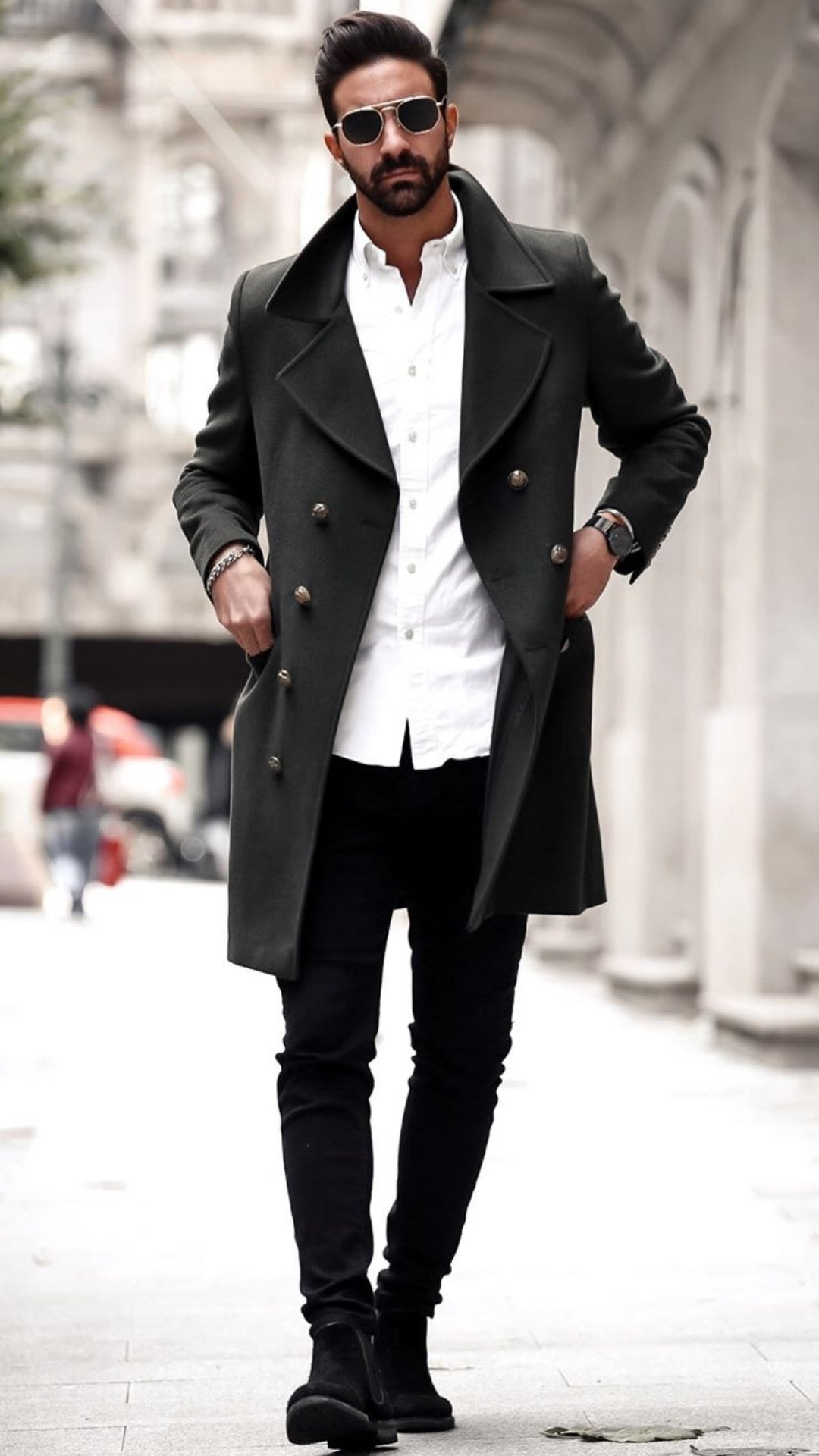 The Best 5 Winter Outfits With Long Coats #mensfashion #streetstyle #longcoats #outfits