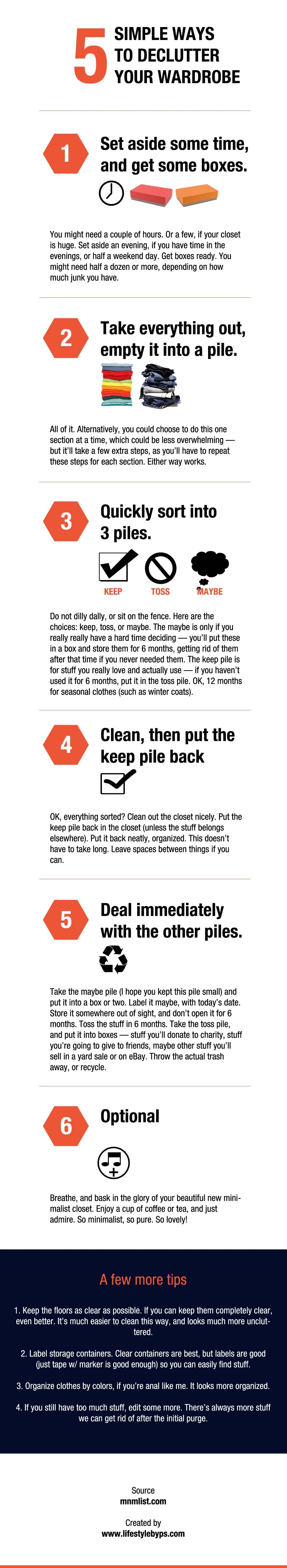 5 simple ways to declutter your wardrobe infographic